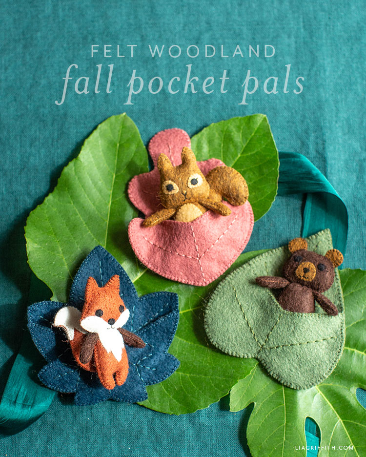 felt woodland fall pocket pals