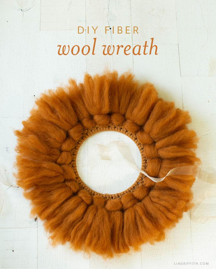 DIY fiber wool wreath