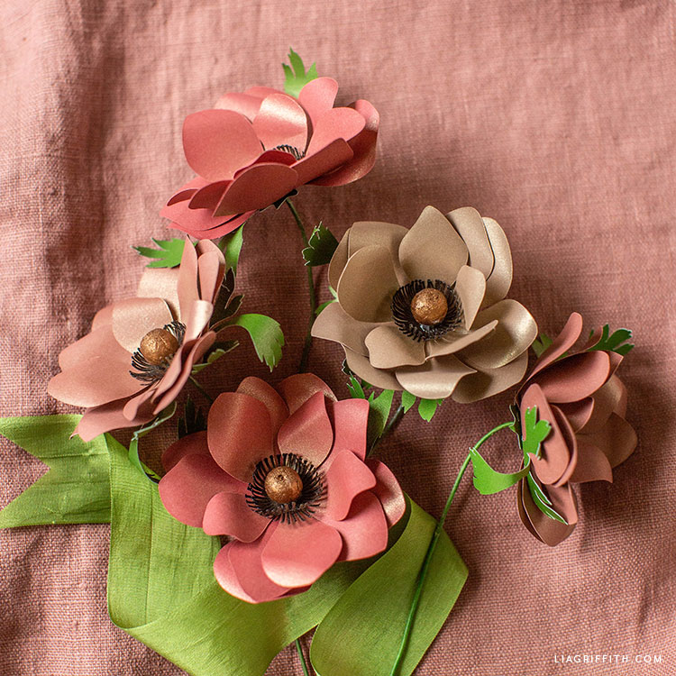 frosted paper anemones for fall