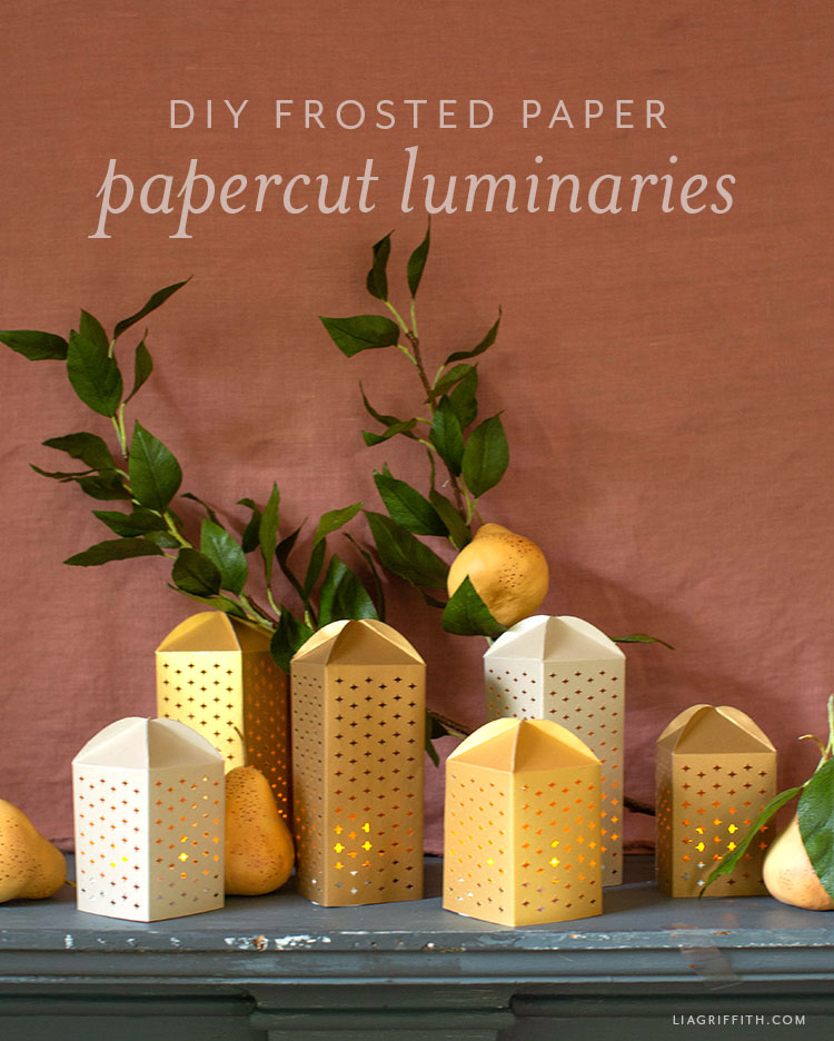 DIY frosted paper papercut luminaries