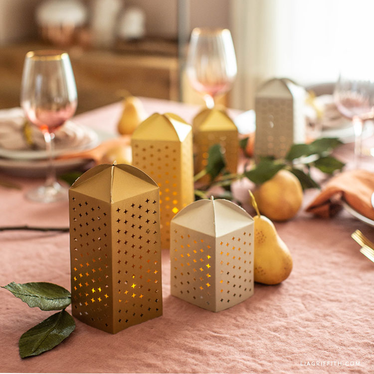 papercut luminaries table decor