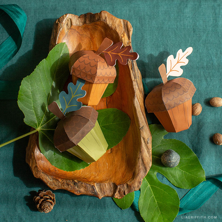printable acorn treat boxes for fall