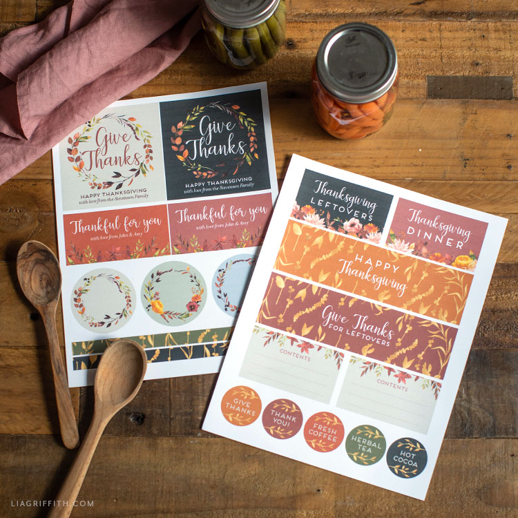 free Thanksgiving labels
