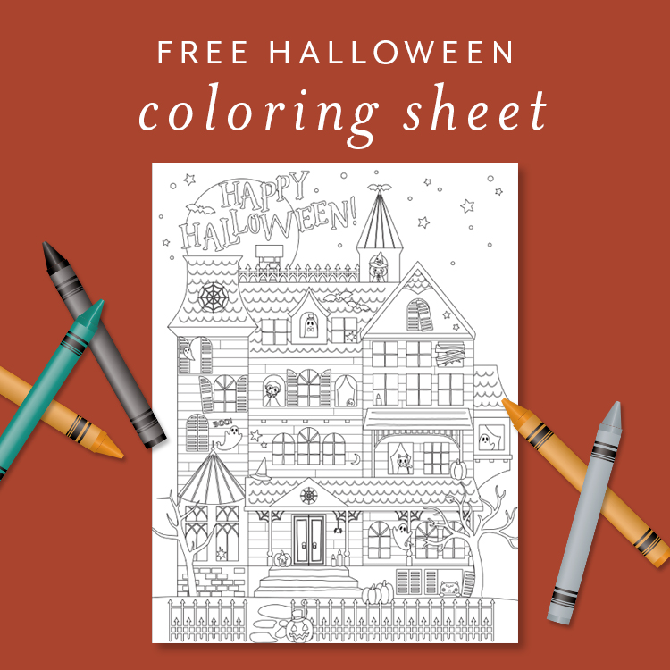 Free Halloween Coloring Page For Kids & Adults - Lia Griffith
