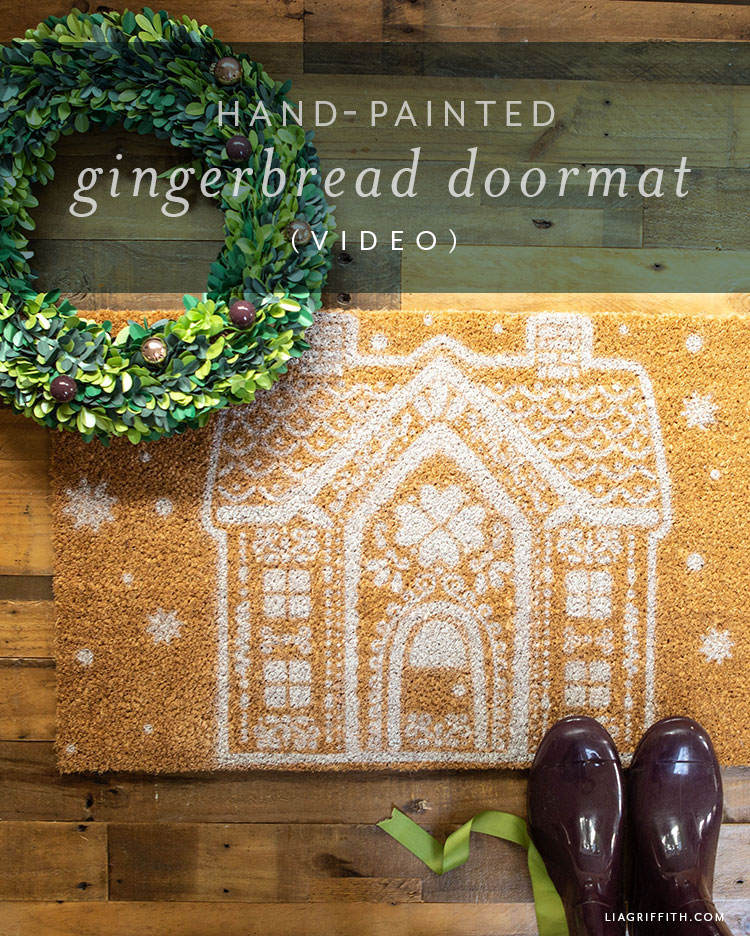 hand-painted gingerbread doormat