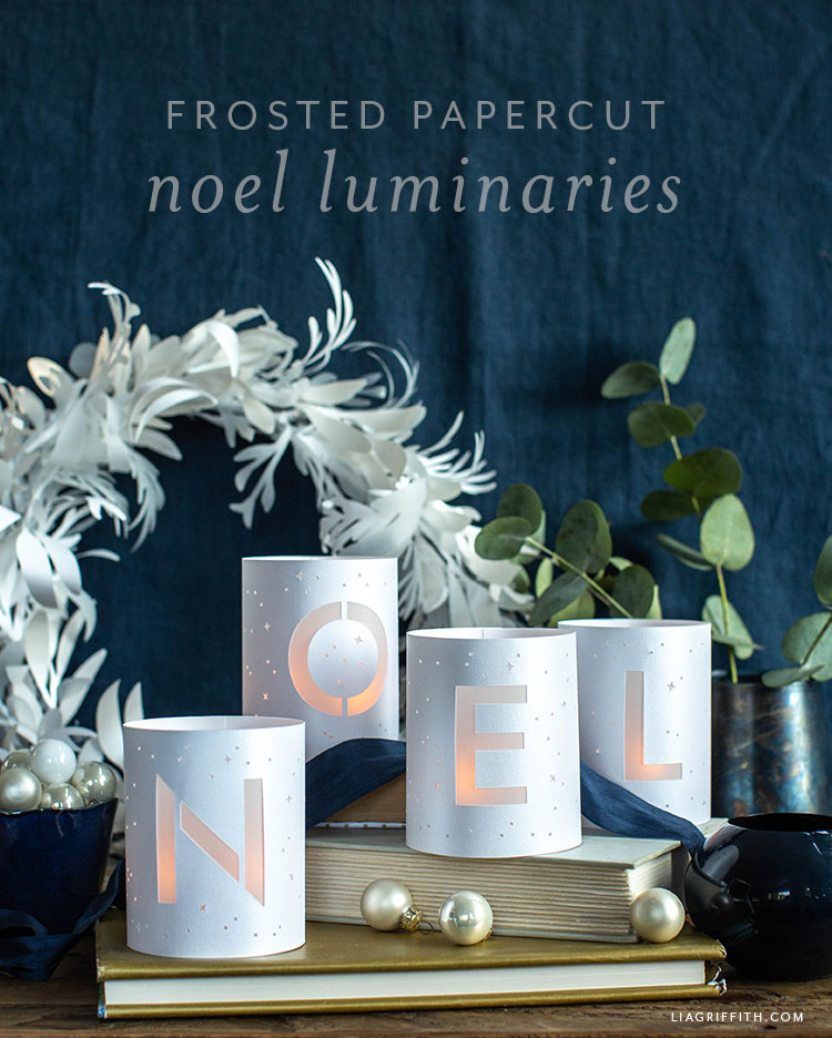 frosted papercut noel luminaries