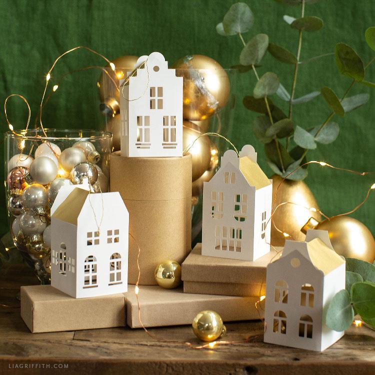 Paper European House Ornaments