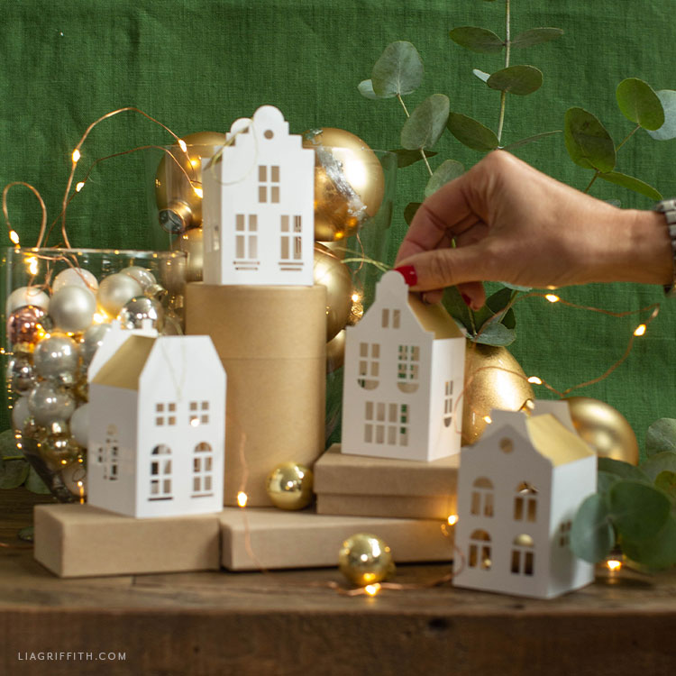 handmade paper European house ornaments