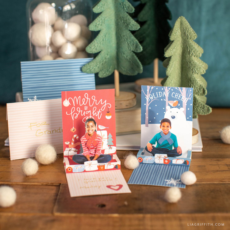 DIY holiday pop-up cards