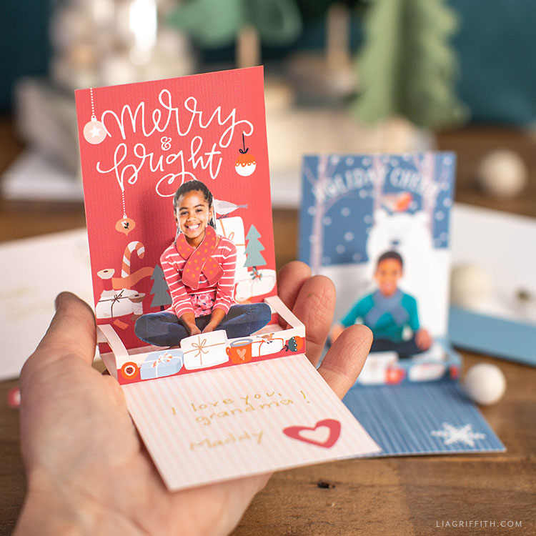 handmade holiday pop-up cards