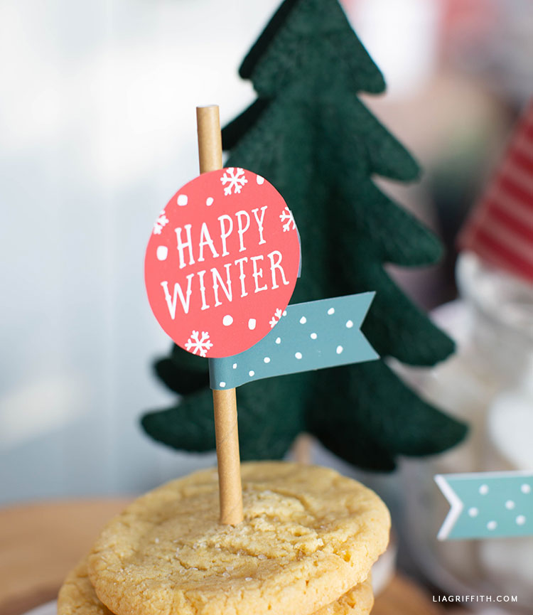 DIY cupcake toppers for holiday party