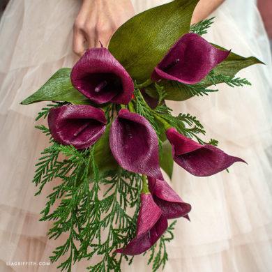 December Member Make: Crepe Paper Calla Lilies