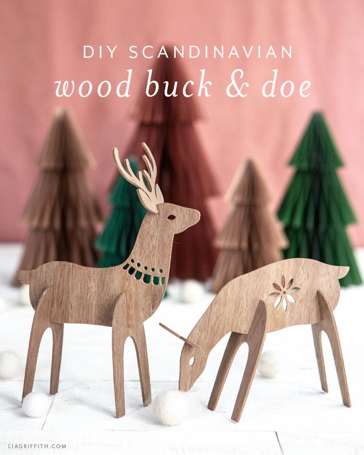 DIY Scandinavian wood buck and doe