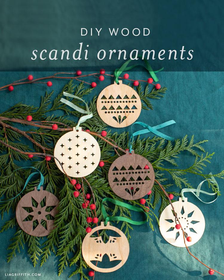 DIY wood Scandi ornaments