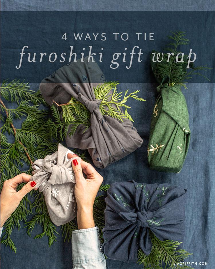 4 ways to tie Furoshiki gift wrap