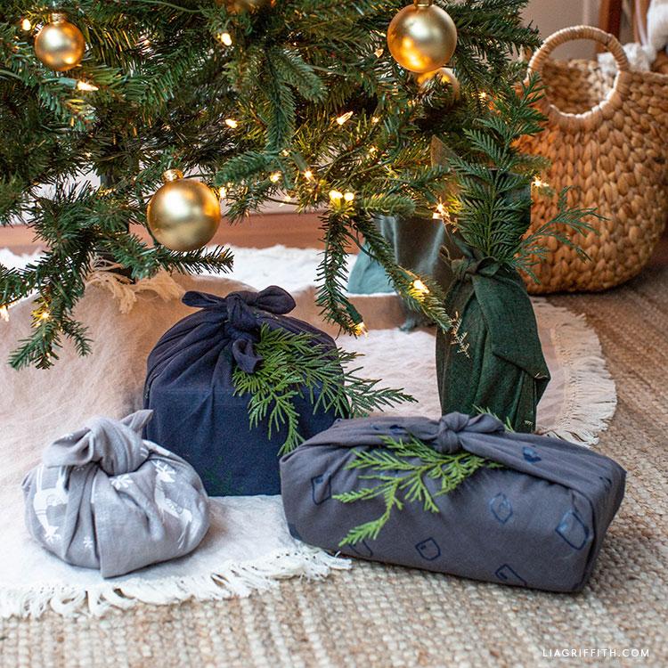 Iron-on fabric gift wrap