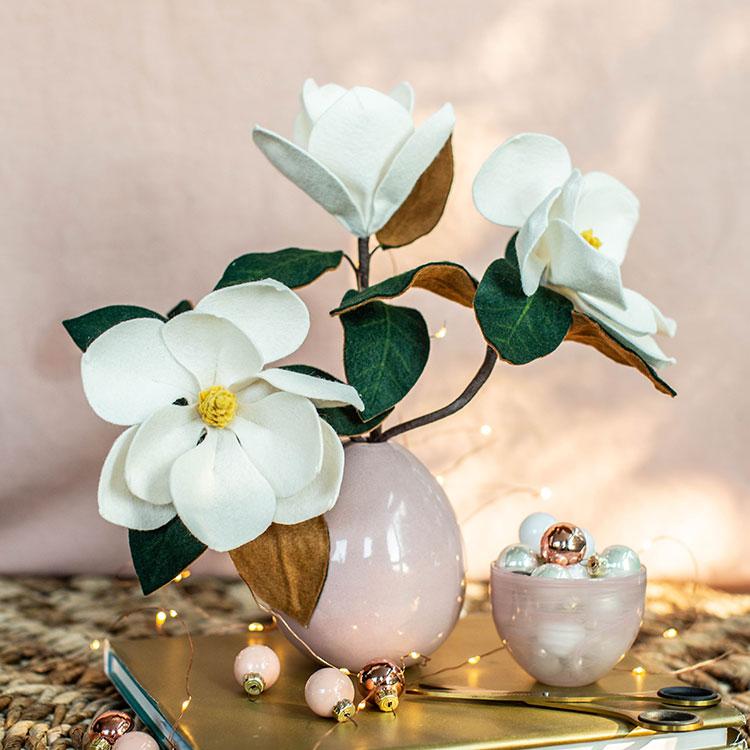 felt southern magnolia bouquet
