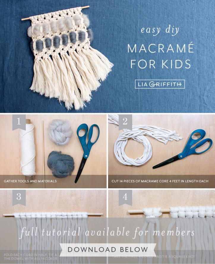 easy DIY macrame for kids