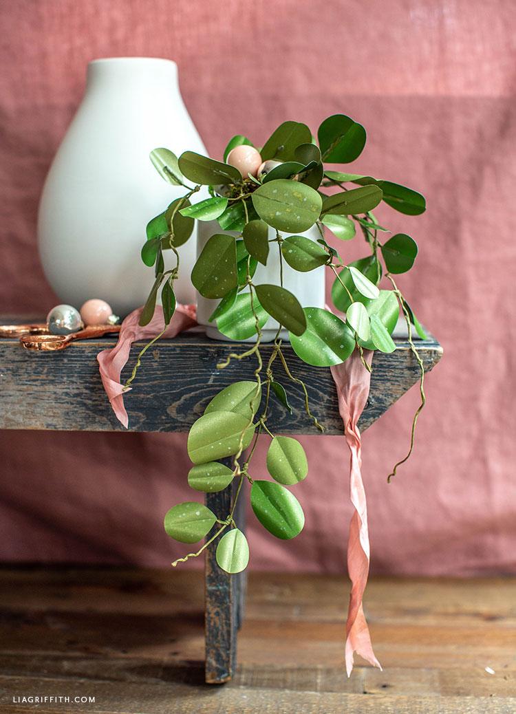 DIY frosted paper Hoya Obovata plant