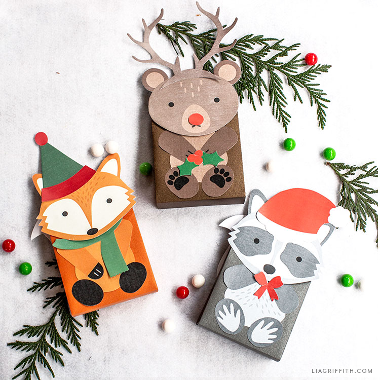 paper woodland holiday treat bags