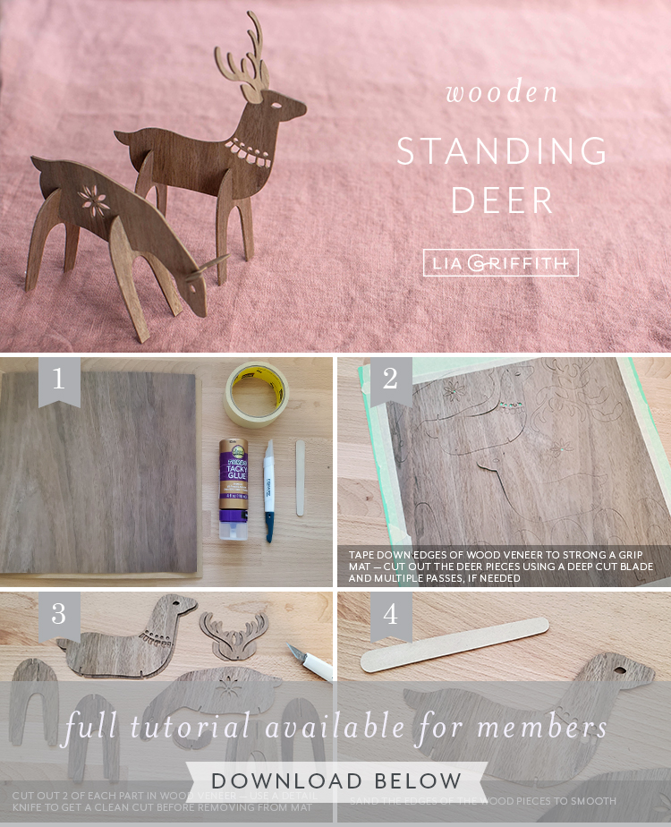 photo tutorial for wooden standing deer by Lia Griffith