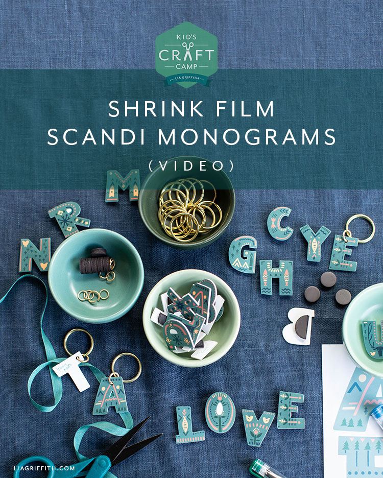 shrink film Scandi monograms