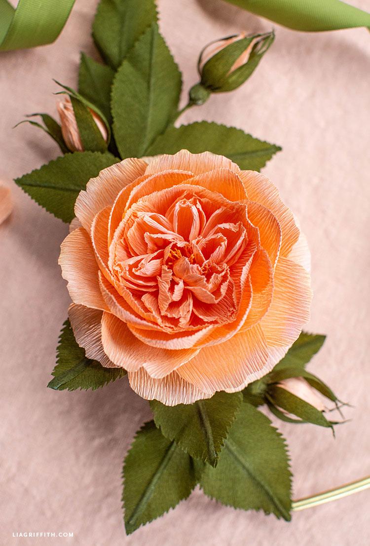 DIY crepe paper cabbage rose