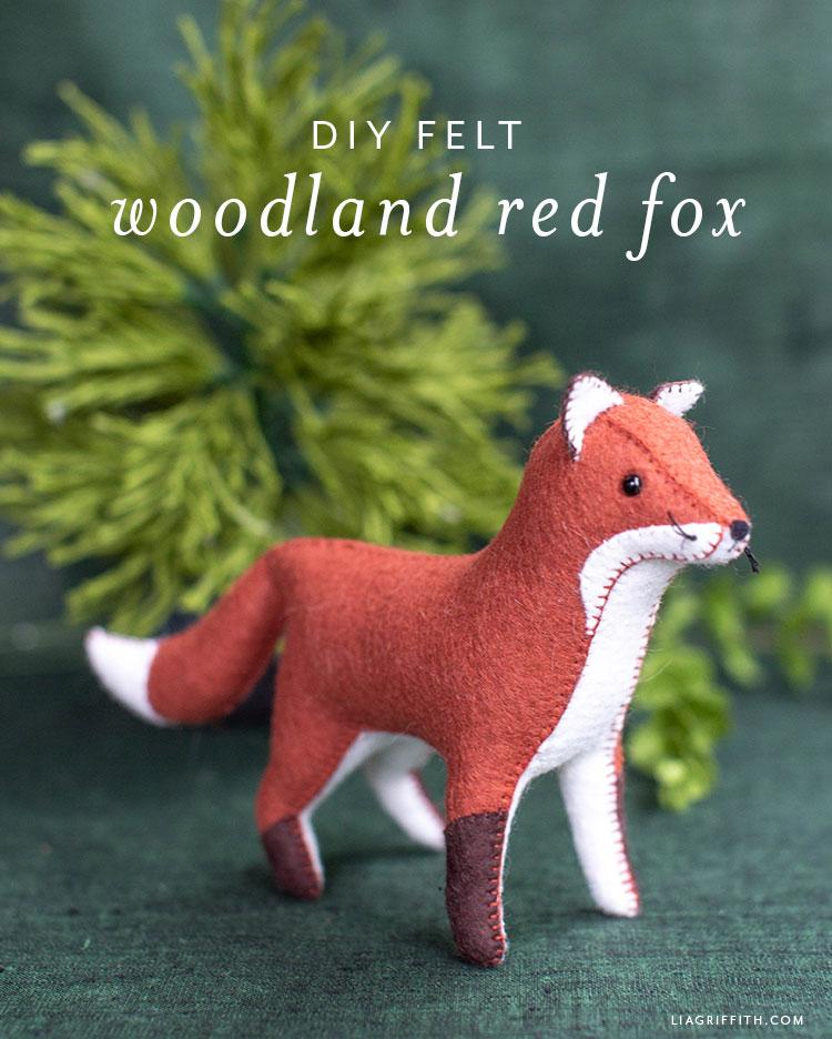 DIY felt woodland red fox