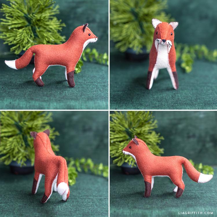 felt red fox
