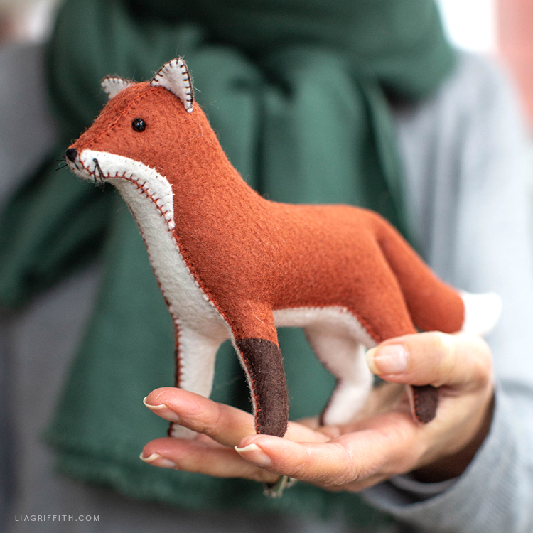 handmade felt red fox