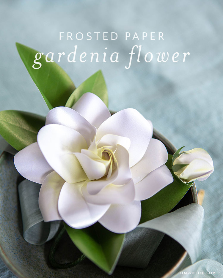 frosted paper gardenia flower