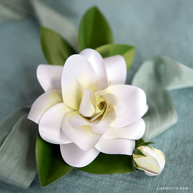 frosted paper gardenia