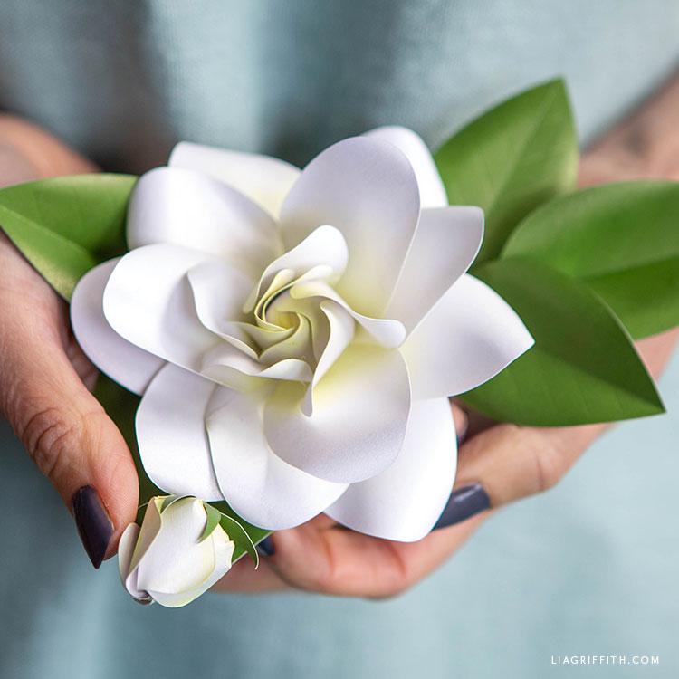 handmade paper gardenia