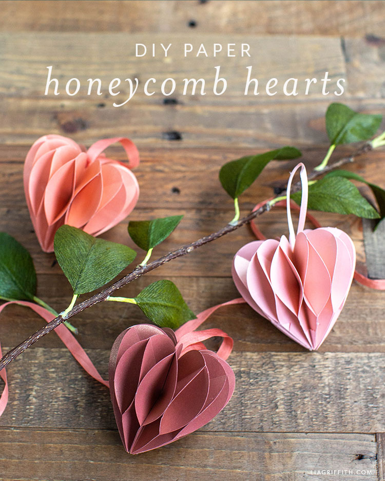 DIY papír méhsejt szív