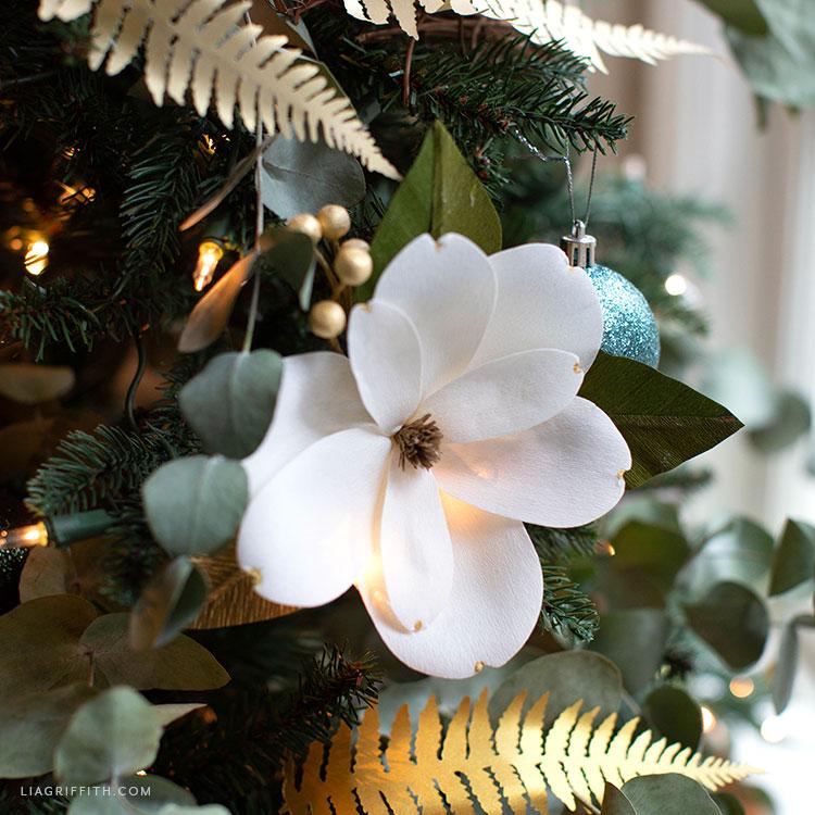 crepe paper magnolia flower