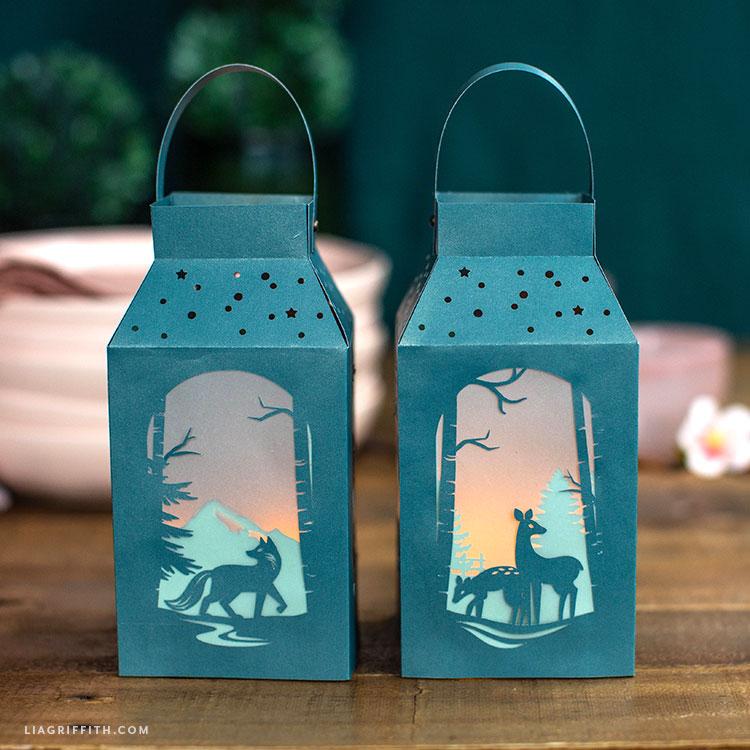 woodland paper lanterns