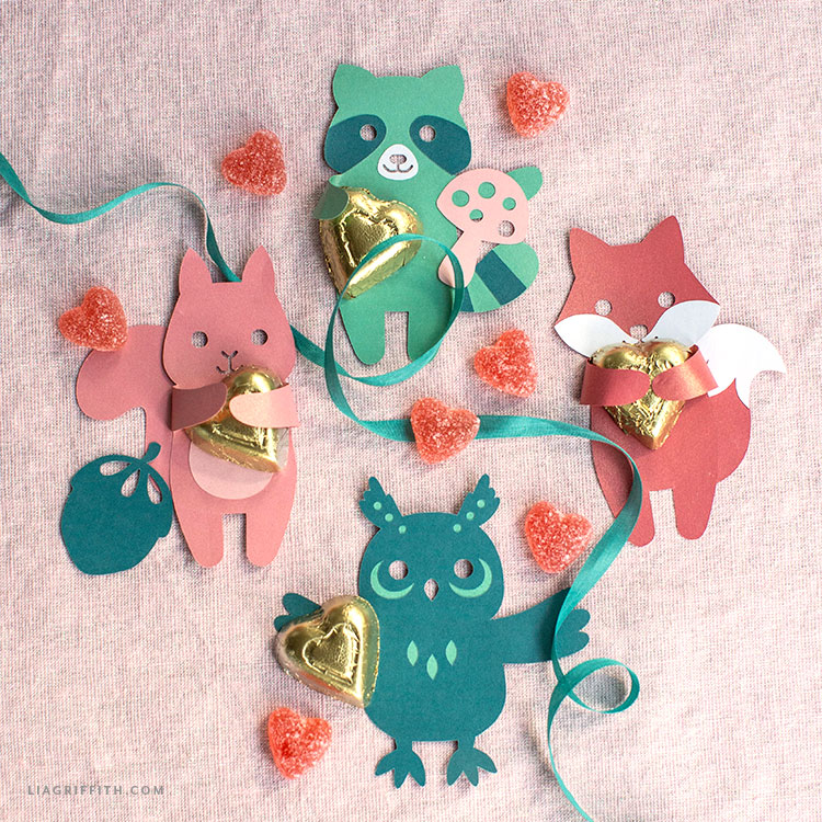 DIY woodland candy huggers for Valentine's Day