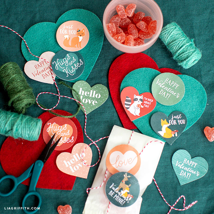 DIY valentine labels