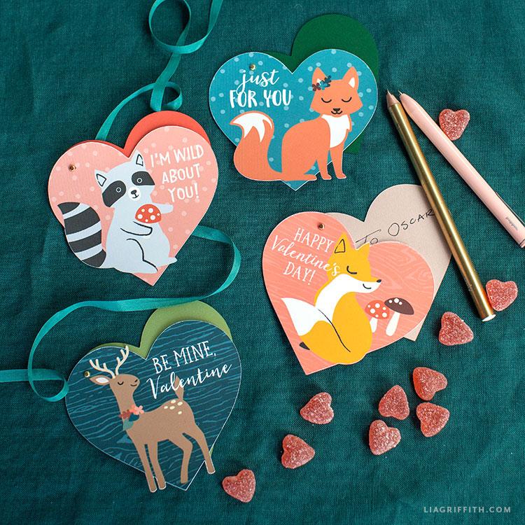 handmade woodland valentines
