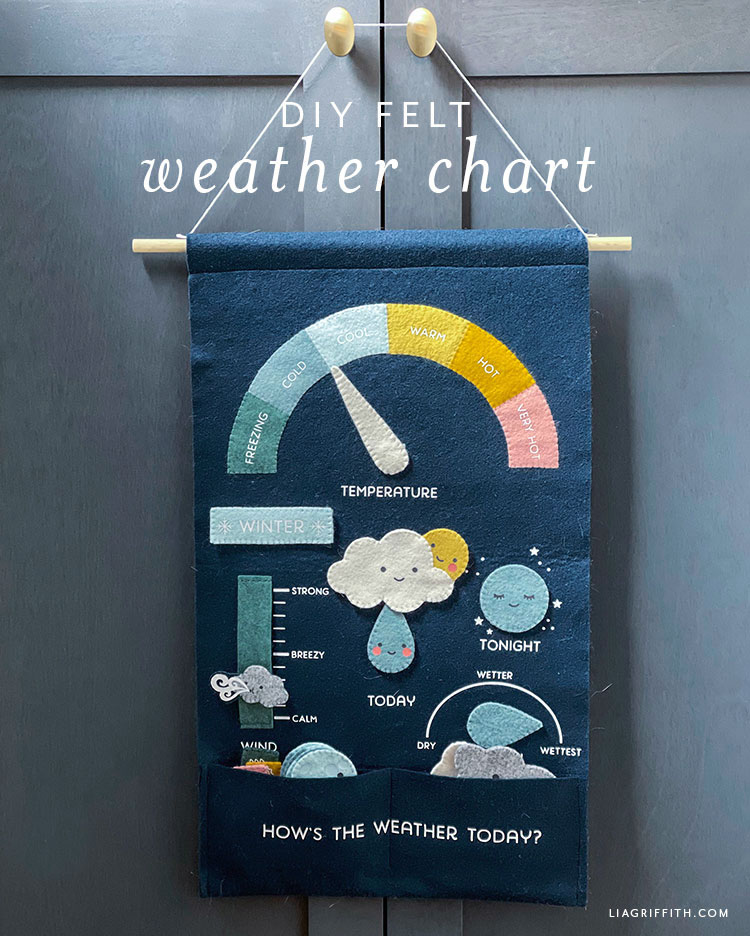 DIY felt weather chart