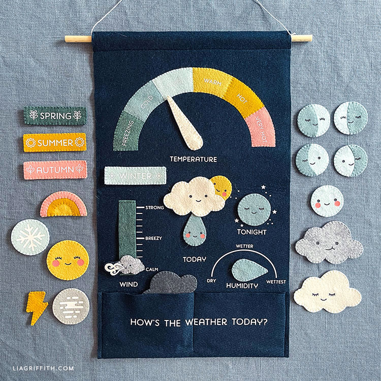 handmade felt weather chart