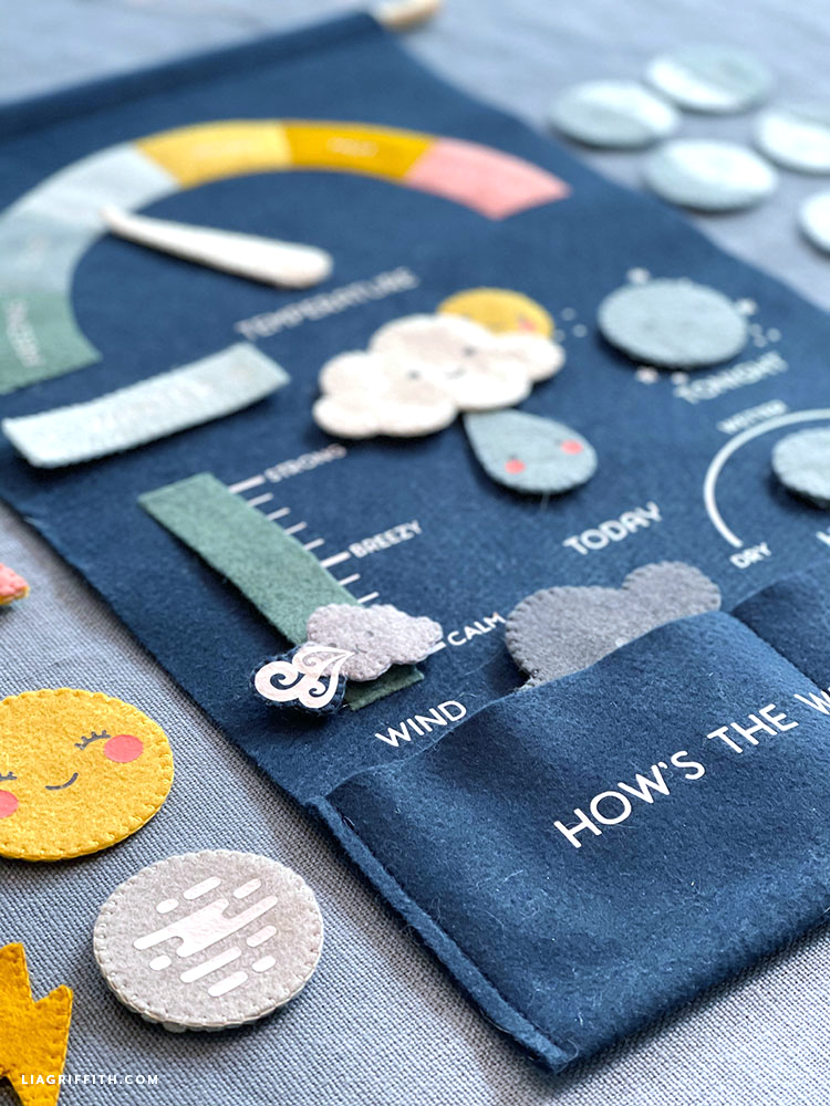 felt weather chart for kids