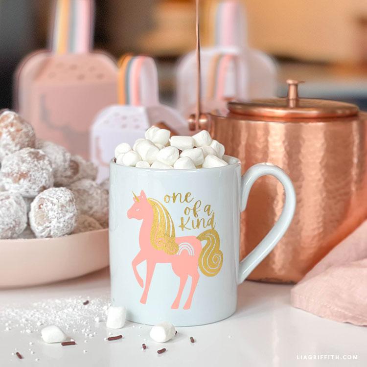 DIY unicorn mug