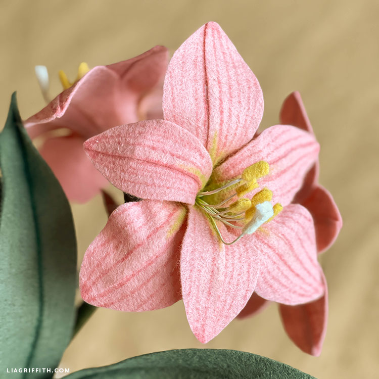 felt amaryllis flowers