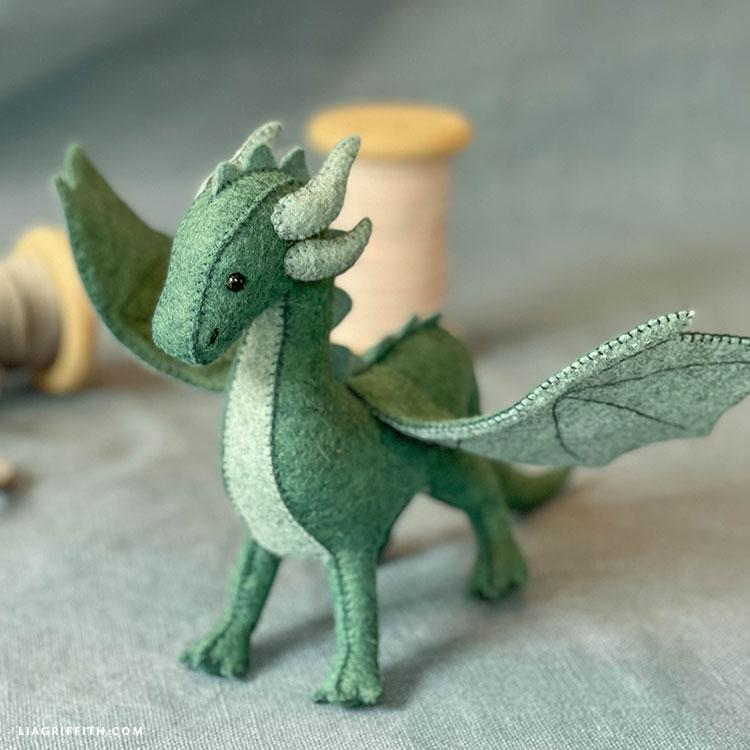 handmade felt dragon