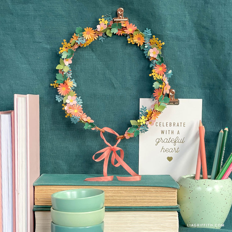 frosted paper fairy wreath