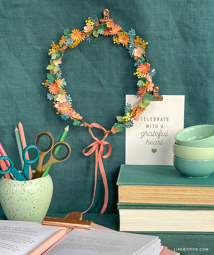 handmade paper wreath