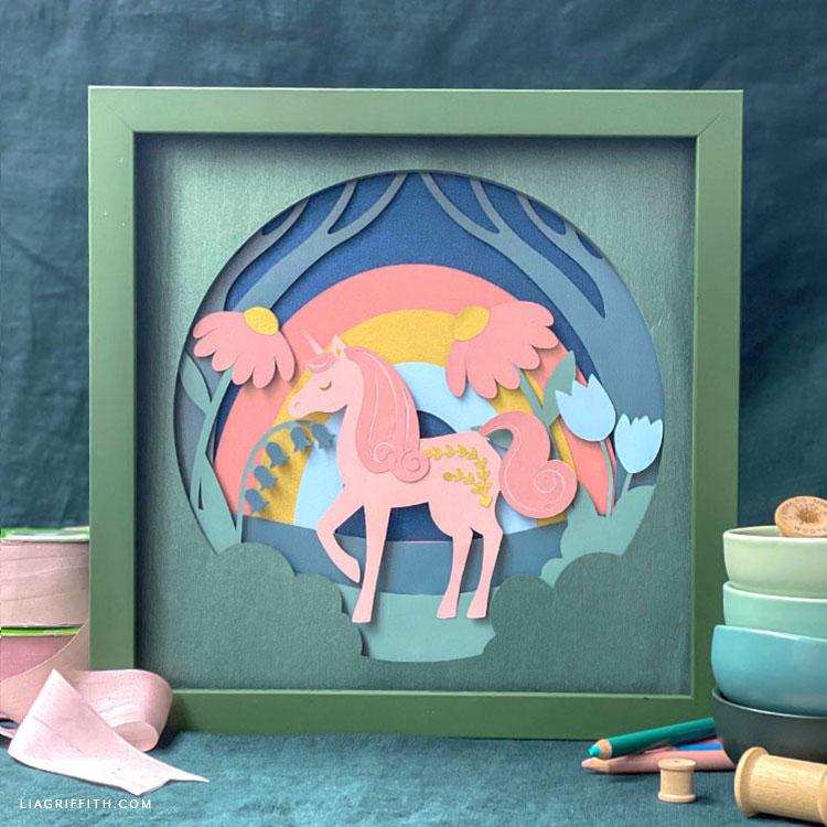 framed unicorn artwork