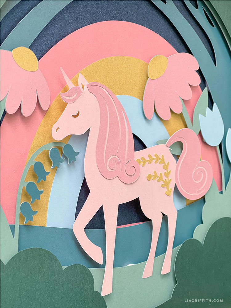 paper unicorn art