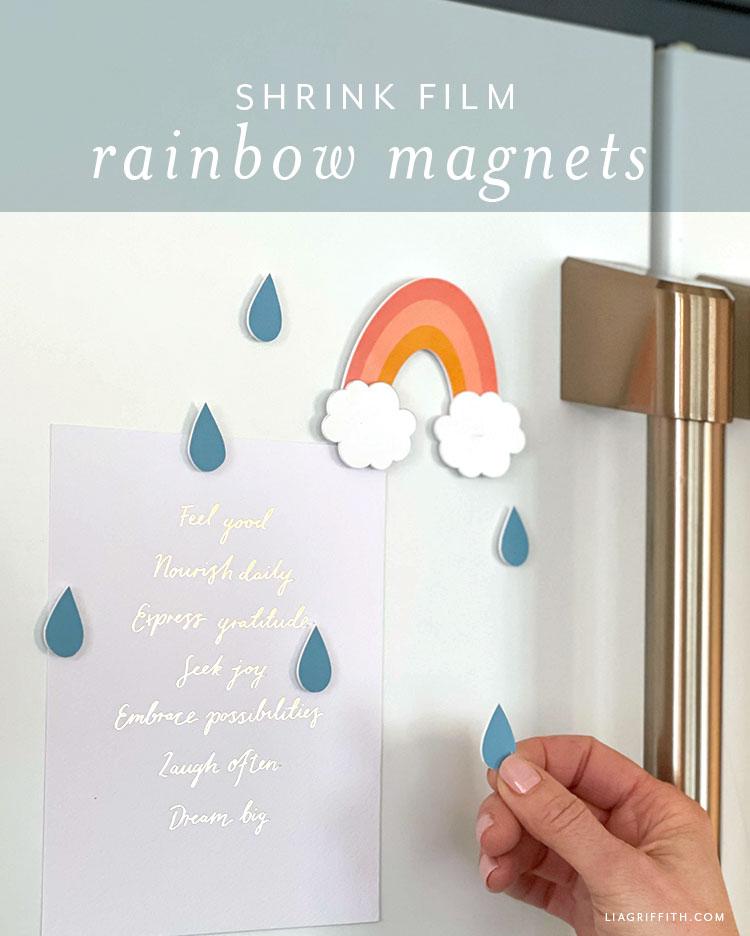 shrink film rainbow magnets